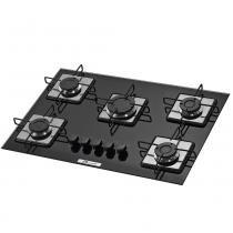 Fogão cooktop 5 bocas soft preto - Built