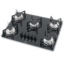 Fogão cooktop fischer de embutir 5q gás mesa vidro - preto - Fischer