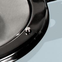 Fogão de mesa v400 de vidro branco e-c inox - bivolt - Branco - Fogatti
