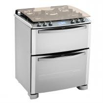 Fogão De Piso I-Kitchen Duplo Forno 5 Bocas Inox 76Dix Electrolux -
