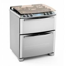 Fogão I-Kitchen de Piso Duplo Forno 5 Bocas (76DIX) - Electrolux