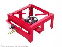 Fogão semi industrial lx 1 boca alta pressão roa metalúrgica - Roa metalúrgica