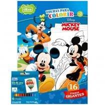 Folhas Para Colorir Gigante Com Giz de Cera Mickey - Tilibra - Tilibra