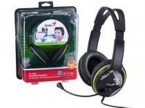 Fone com Microfone Genius 31710169100 HS-400A Headset Verde Grafite Ergonomico -