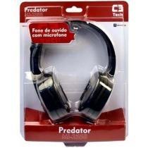 Fone com microfone MI-2558RB Predator C3 Tech -