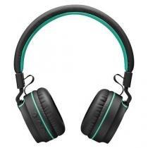Fone com Microfone Pulse ON EAR Stereo Audio Bluetooth PRETO/VERDE Multilaser PH215 -