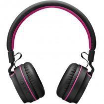 Fone de Ouvido C/ Bluetooth e Headphone - Multilaser PH216 Preto e Rosaloja - Multilaser