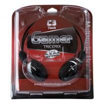 Fone de ouvido c3 tricerix gamer com controlador de volume e microfone -