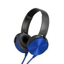 Fone de ouvido com microfone black metal edition azul atende ligacao - Importado