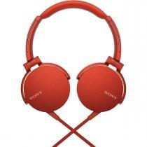 Fone De Ouvido Com Microfone Extra Bass Vermelho Mdr-Xb550ap Sony -