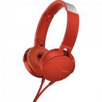 Fone de Ouvido com Microfone MDR-XB550AP/R Vermelho SONY -