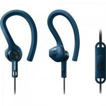 Fone de Ouvido Esportivo 3 em 1 com Microfone SHQ1405BL/00 AZUL Philips -
