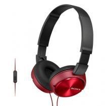 Fone de Ouvido Estereo com Microfone MDRZX310AP Vermelho SONY -