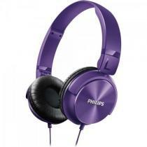 Fone de ouvido estilo dj com graves nitidos shl3060pp/00 roxo philips -