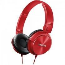 Fone de ouvido estilo dj com graves nitidos shl3060rd/00 vermelho philips -