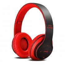 Fone De Ouvido Headphone Bluetooth 4.2 Fm/ Micro Sd Vermelho - Zgp