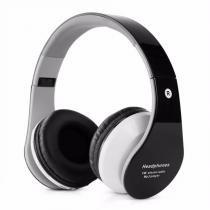 Fone De Ouvido Headphone Bluetooth Stereo Radio Fm Usb B01 Preto - Bk imports