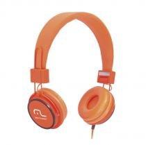 Fone de Ouvido Headphone Fun Haste Ajustável Laranja PH086 - Multilaser - Laranja - Multilaser