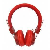Fone de ouvido headphone mp3 fm com entrada para cartao de memoria vermelho bq170 - Boas