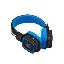 Fone de Ouvido Headphone MP3 FM Entrada para Cartao de Memoria KP 382 AZUL KNUP -