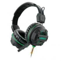 Fone de ouvido headphone multilaser gamer green usb/ led light verde ph143 -