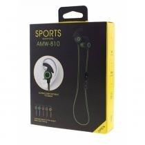 Fone De Ouvido Headphone Sports Amw-810 Com Bluetooth - Estéreo - Lotus