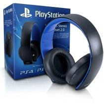 Fone de Ouvido Headset Gold PS4 Wireless Stereo 7.1 PS3/PS4/PC SONY -