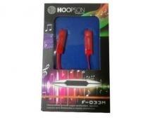 FONE DE OUVIDO HOOPSON F-033M-Vermelho- Entrada P2 - Hoopson