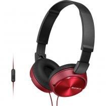 Fone de Ouvido MDR-ZX310AP-WQCE7 P2 Sony - Vermelho - Sony