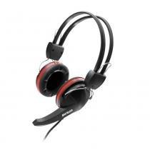 Fone de Ouvido Multilaser com Microfone Premium Gamer Crab Preto Vermelho Ps2 - PH042 - Neutro - Multilaser