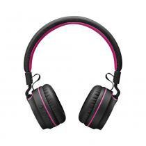 Fone de ouvido multilaser pulse fun ph216 preto e rosa -