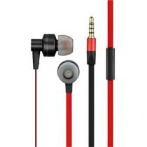 Fone de Ouvido Pulse Intra Auricular Preto/Vermelho - PH154 - Multilaser