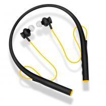 Fone de ouvido pulse rubber ph240 arco preto e amarelo - Multilaser