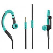 Fone De Ouvido Pulse Sport Earhook Intra Auricular com Microfone - Preto e Azul - PH204 - Multilaser