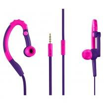 Fone De Ouvido Pulse Sport Earhook Intra Auricular com Microfone - Rosa e Roxo - PH206 - Multilaser