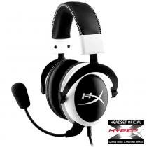 Fone  headset kingston hyperx cloud pro gaming white - khx-h3clw - Hyperx