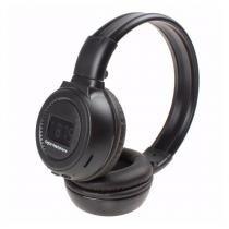 Fone Ouvido Bluetooth Headphone Sem Fio Sd Aux Mp3 Visor Preto - Bk imports