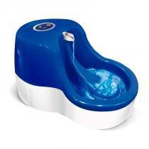 Fonte automática para gatos azul 110v - furacão pet -