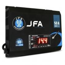 Fonte Automotiva JFA 50A 2500W SCI Carregador Bateria Bivolt Display LED Voltímetro Amperímetro -
