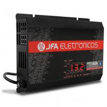 Fonte Automotiva JFA 60A 3000W SCI Carregador Bateria Bivolt Display LED Voltímetro Amperímetro -