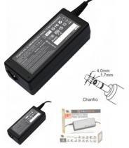 Fonte de alimentação notebook dell chanfro e hp mini 19.5v 3.34a plug 4.0x1.7mm -