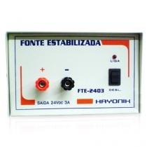 Fonte Elétrica Estabilizadora 24 VDC, 3 A, FTE-2403 - Hayonik -