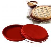 Forma assadeira de silicone crostata ideal para quitutes e tortas 26cm prana - Prana