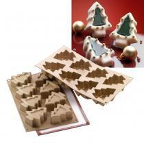 Forma assadeira de silicone formato pinheiro para doces e salgados divertido prana - Prana