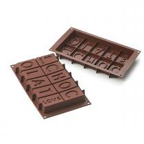 Forma assadeira de silicone para doces i love you chocolat prana - Prana