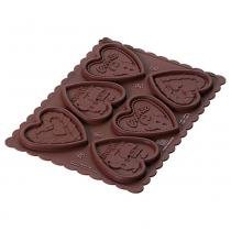 Forma cookie hearts silikomart silicone marrom -