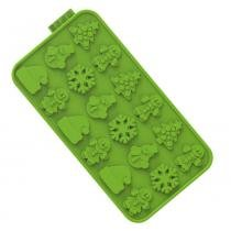 Forma de chocochips christmas siliconezone verde -