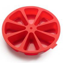 Forma de silicone Cake Lékué vermelha 27 cm - 25842 - Lekue