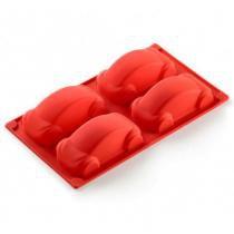 Forma de silicone Carros Lékué vermelha 30 x 17,5 x 3,5 cm - 26666 - Lekue
