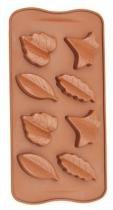 Forma De Silicone Para Chocolate Folhas Outono Eco-554 - Gedex